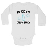 Daddy's Drinking Buddy Funny Kids Onesuit