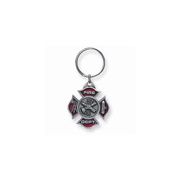 Fire Department Pewter Key Ring