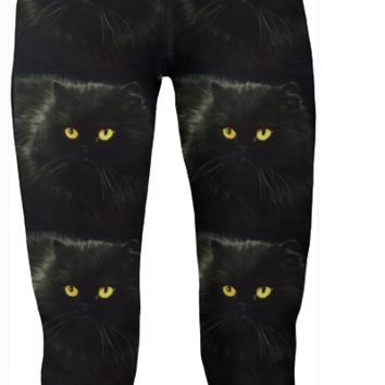 Black Cat Yoga Pants