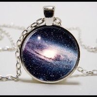 Milky Way Galaxy necklace  -  Galaxy jewelry -  Outer space galaxy nexus necklace and pendant