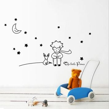 Stars Moon The Little Prince Wall Art Vinyl Sticker DIY Home decor Mural Decals