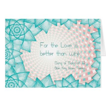 Biblical Quotations Song of Solomon Card