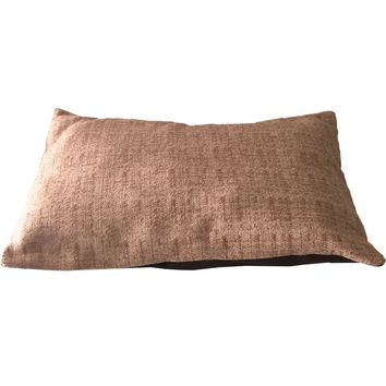 Pre-owned Mid-Century Modern Barkcloth Pillow