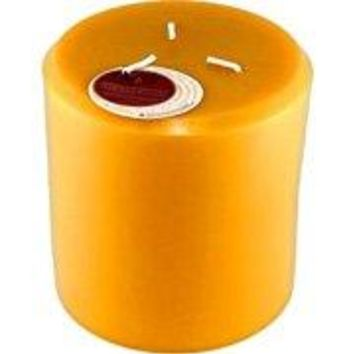 Pure Beeswax Candles 3 Pillar - 1 pc