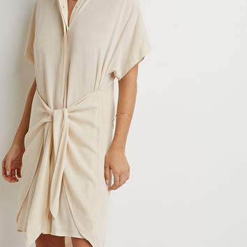 Wrap-Tie Shirt Dress