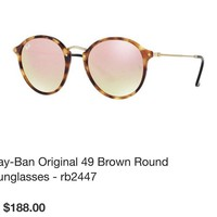 ray ban sunglasses - RB 2447 Tort, Rose Mirro