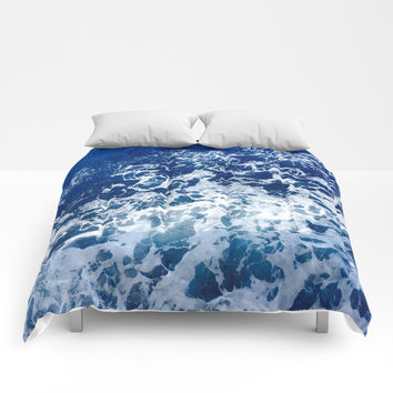 Sea Waves Comforters by Jenna C.