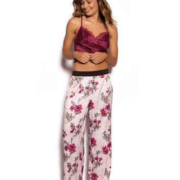 Oriental Luxe Long Pant - Floral