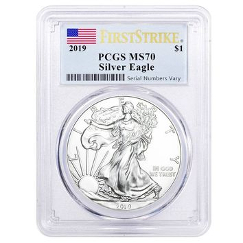 2019 1 oz Silver American Eagle MS-70 PCGS (First Strike)