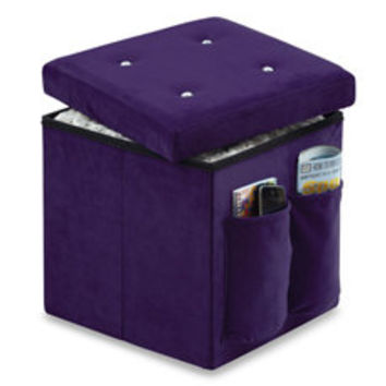Sit and Store Folding Storage Ottoman - Bling - Bed Bath & Beyond