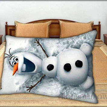 "Snowman Olaf - 20 "" x 30 "" inch,Pillow Case and Pillow Cover."