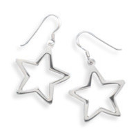 Cut Out Star French Wire Earrings