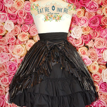 Golden Roses overskirt bustle skirt cape with detachable bow free size