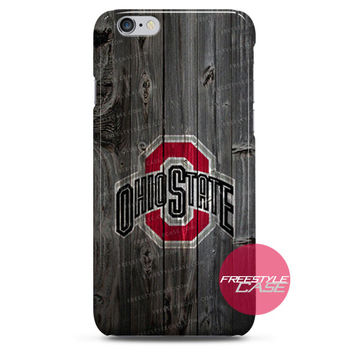 Ohio State Football Wood iPhone Case 3, 4, 5, 6 Cover