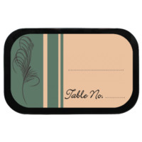Feather Personalized Wedding Placecards Mint Tins for Weddings, Parties, Timeless, Classic Themed!
