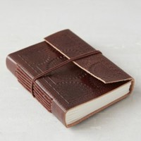 Tooled Medallion Mini Journal- Brown One