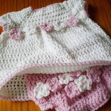 Crochet Pattern Baby Diaper Cover and Top or Dress