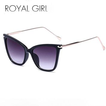 Royal Girl Designer Women Sunglasses Metal Cat Eye