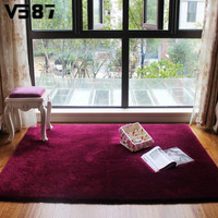 Soft Fluffy Anti-skid Floor Mat Plush Home Shaggy Area Rug Carpet 80X120cm Yoga Bedroom Kid Playing Room Floor Cover