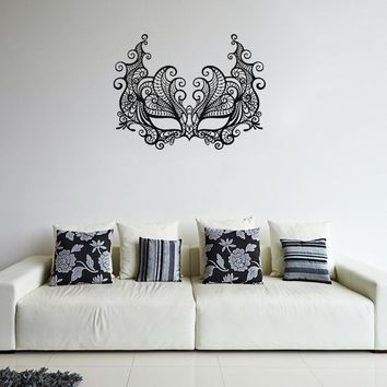 ik1056 Wall Decal Sticker Venetian mask Columbine carnival bedroom