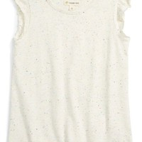 Tucker + Tate Flutter Sleeve Tee (Toddler Girls, Little Girls & Big Girls) | Nordstrom