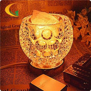 adjustable knob salt crystal lamp bedroom bedside lamp night light table lamp E17 Book Lights