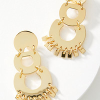 Chandelier Hoop Drop Earrings