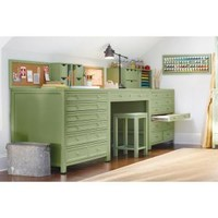Martha Stewart Living Craft Space 42 in. W 8-Drawer Flat-File Cabinet in Rhododendron Leaf-0464000600 - The Home Depot