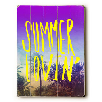 Summer Lovin' by Artist Leah Flores Wood Sign