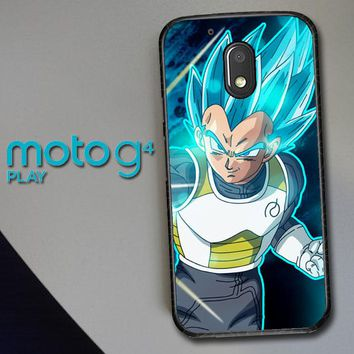 Vegeta Super Saiyan God Blue Z5039 Motorola Moto G4 Play Case