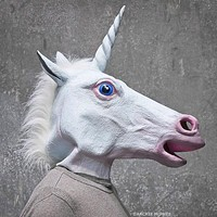 Magical Unicorn Mask in White