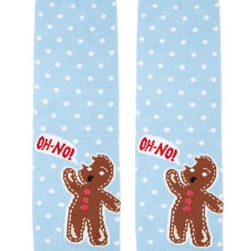 Gingerbread Print Crew Socks
