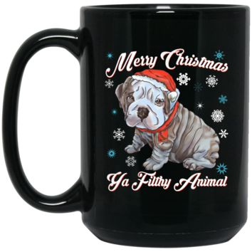 Christmas Mug - English Bulldog Puppy Gift Idea