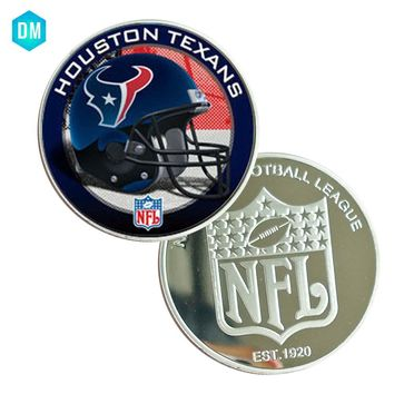 HOUSTON TEXANS NFL Coin Home Decor Souvenir Coin 999.9 Silver Coin Art Crafts Holiday Gifts and Collections