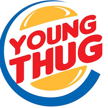 'Young Thug Burger King' Poster by Jetblackbob