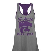 K-State Wildcats Womens Gray Noelle Tank Top