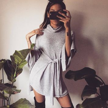 Winter Women's Fashion Knit Tops Patchwork Sweater [11803100559]