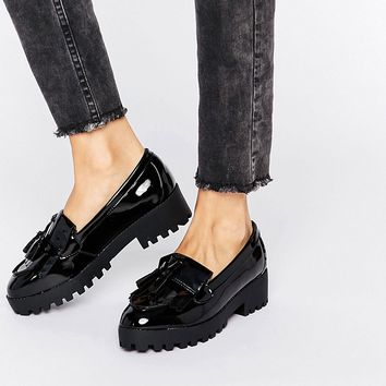 New Look Chunky Patent Tassel Loafer