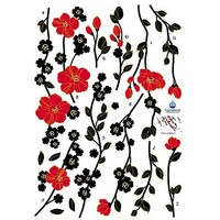 Easy Instant Decoration Wall Sticker Decal- Red Flowers
