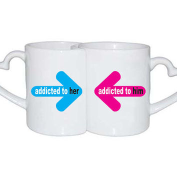 Love Mugs addicted to him her