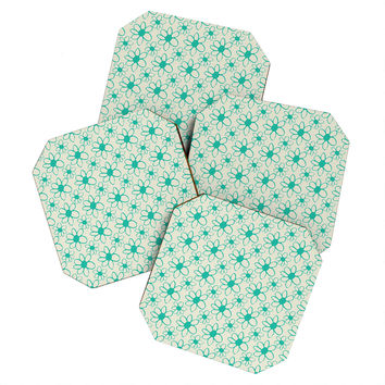Allyson Johnson Mod Flowers Coaster Set