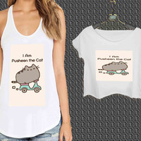 i m Pusheen The Cat For Woman Tank Top , Man Tank Top / Crop Shirt, Sexy Shirt,Cropped Shirt,Crop Tshirt Women,Crop Shirt Women S, M, L, XL, 2XL **