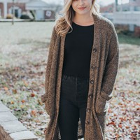 Long Sleeve Duster, Leaf Brown