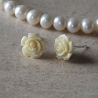 Rose Yellow Cartilage Tragus Earring Body Jewelry Earring Post With Back