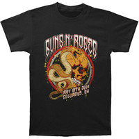 Guns N Roses Men's  Snake Skull T-shirt Black Rockabilia