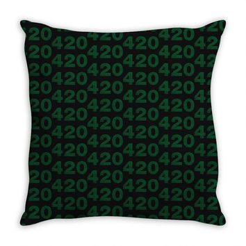 marijuana 420 Throw Pillow