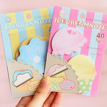 1pcs/lot Sweet Ice cream & Donuts design Notepad Funny Memo pad Paper sticky note Kawaii stationery office School supplies