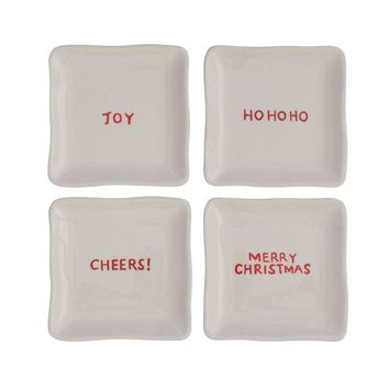 Ceramic Plate With Holiday Saying