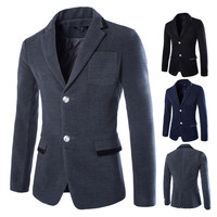 Two Buttons Wool Blazer Jacket