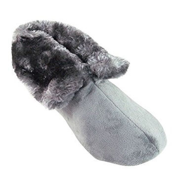 Charter Club Women's Microfiber Velour Bootie Slipper